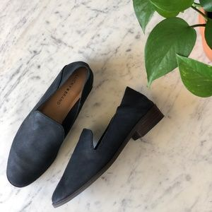 Lucky Brand Cahill Flat Leather Loafer Mule 7.5